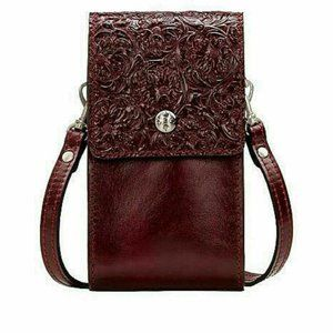 Patricia Nash Crossbody Leather Tooled Bag